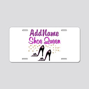 FUN PURPLE SHOES Aluminum License Plate