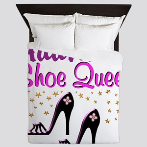 FUN PURPLE SHOES Queen Duvet