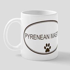 Oval Pyrenean Mastiff Mug