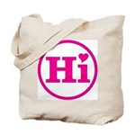 Heart Hawaii Hi Pink Tote Bag