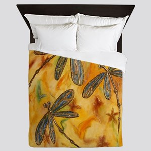 Dragonfly Flit Warm Breeze Queen Duvet