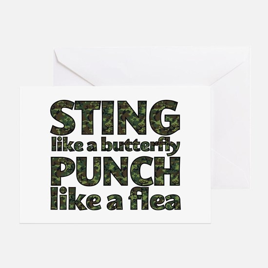 Sting like a butterfly Greeting Card