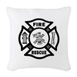 Fire Rescue Woven Throw Pillow