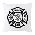 Firefighter EMT Woven Throw Pillow