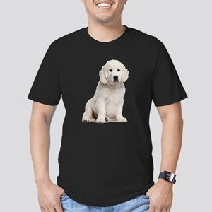 Golden Retriever Men's Fitted T-Shirt (dark)