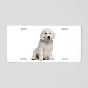 Golden Retriever Aluminum License Plate