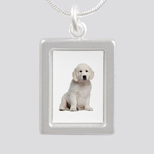 Golden Retriever Silver Portrait Necklace