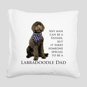 Labradoodle Dad Square Canvas Pillow