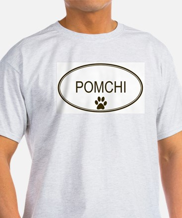 Oval Pomchi Ash Grey T-Shirt