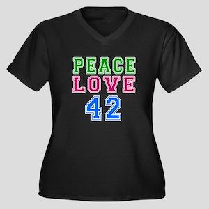 Peace Love 38 birthday designs Women's Plus Size V