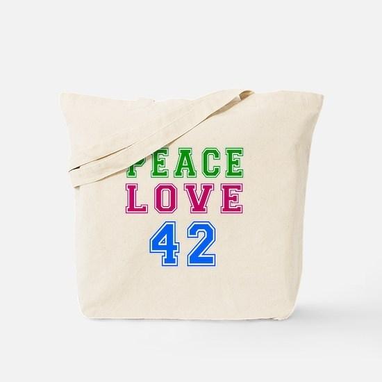 Peace Love 38 birthday designs Tote Bag