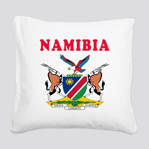 Namibia Coat Of Arms Designs Square Canvas Pillow