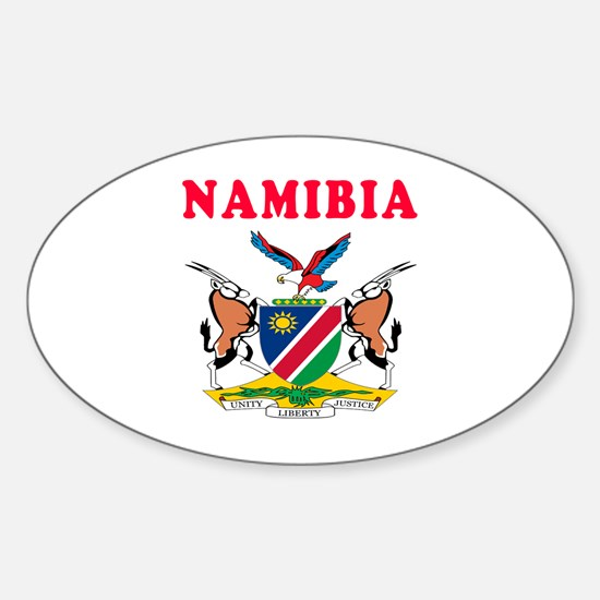 Namibia Coat Of Arms Designs Sticker (Oval)