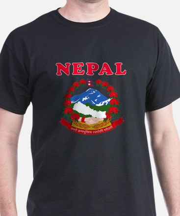Nepal Coat Of Arms Designs T-Shirt