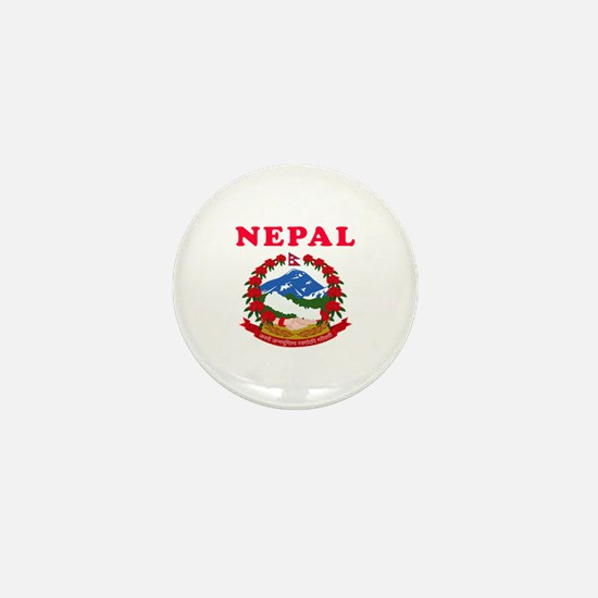 Nepal Coat Of Arms Designs Mini Button