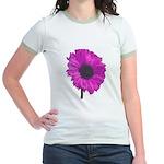 Pink Flower Jr. Ringer T-Shirt