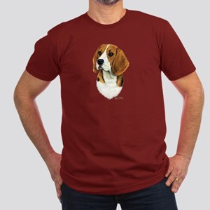 Beagle Men's Fitted T-Shirt (dark)
