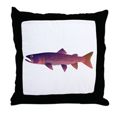 Taimen Throw Pillow