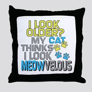 Funny Birthday - Cat Throw Pillow