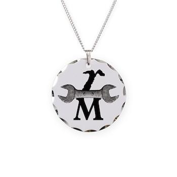 RM Logo 10 grayscale copy Necklace