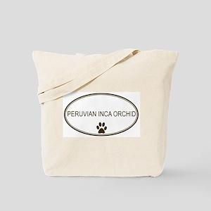 Oval Peruvian Inca Orchid Tote Bag
