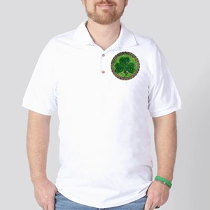 Shamrock And Celtic Knots Golf Shirt