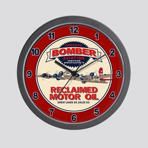 Bomber Reclaimed Motor Oil Wall Clock