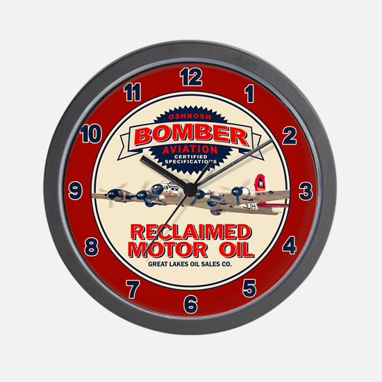 Bomber Reclaimed Motor Oil Wall Clock