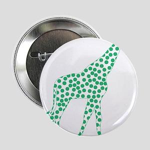 """Kelly Green Polka Dot Giraffe 2.25"""" Button"""