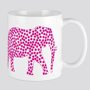 Bright Pink Polka Dot Elephant Mug