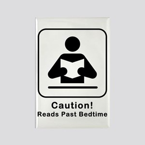 Reads Past Bedtime Rectangle Magnet