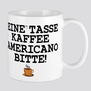 CUP OF COFFEE PLEASE - GERMAN! Z Small Mug