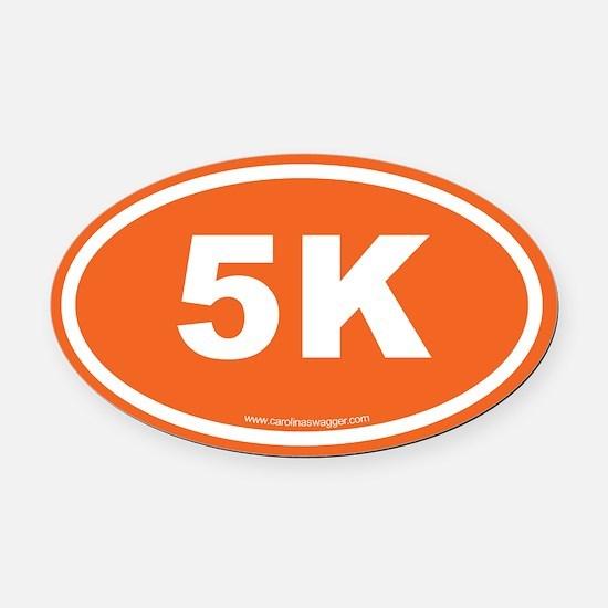 5K 3 Oval Car Magnet