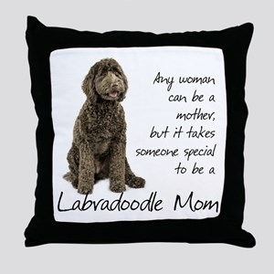 Labradoodle Mom Throw Pillow
