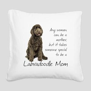 Labradoodle Mom Square Canvas Pillow