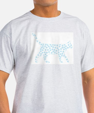 Light Blue Polka Dot Cat T-Shirt