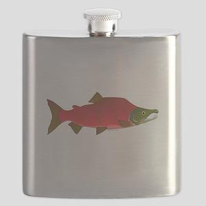 Sockeye Kokanee Salmon male f Flask