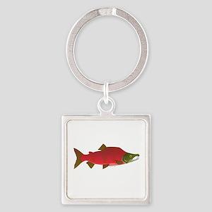 Sockeye Kokanee Salmon male f Keychains