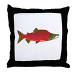 Sockeye Kokanee Salmon male f Throw Pillow