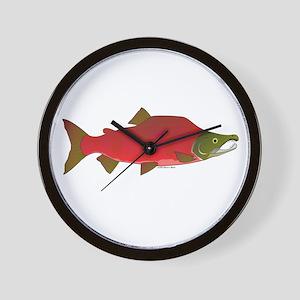 Sockeye Kokanee Salmon male f Wall Clock
