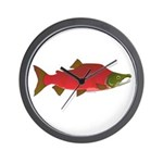 Sockeye Kokanee Salmon male f Wall Clock