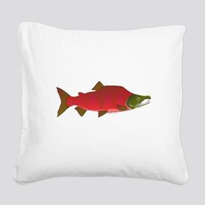 Sockeye Kokanee Salmon male f Square Canvas Pillow