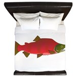 Sockeye Kokanee Salmon male f King Duvet