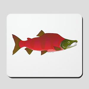 Sockeye Kokanee Salmon male f Mousepad