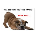 BULLDOG SMILES Postcards (Package of 8)