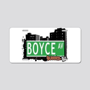 BOYCE AVENUE, QUEENS, NYC Aluminum License Plate