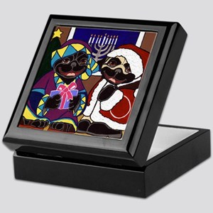 Holiday Pugs Keepsake Box