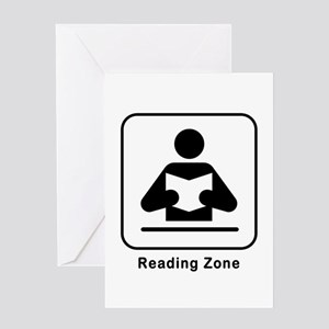 Reading Zone Greeting Card