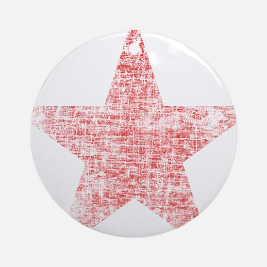 Faded Red Star Ornament (Round)