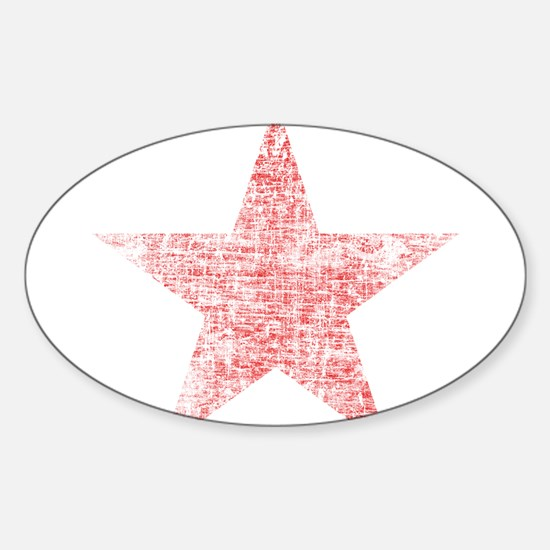 Faded Red Star Decal